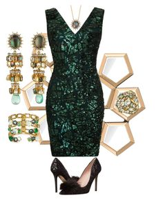 """Just add a green dress"" by easy-dressing ❤ liked on Polyvore featuring Eichholtz, Alexis Bittar and Kate Spade"