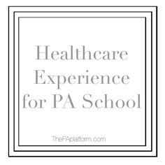 Physicians assistant coursework