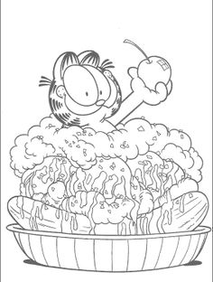 172 Best Garfield Images On Pinterest Coloring Pages Colouring