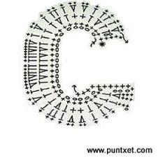 Crochet Capas, Patron Crochet, Crochet Instructions, Diy And Crafts, Alphabet, Applique, Crochet Patterns, Letters, Charts