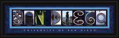 University of San Diego Officially Licensed Framed Letter Art