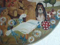 Phantastisch bemalte Spanschachtel ca. 31x24x14 cm, Bärenmotiv, top erhalten   eBay