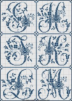 Free Cross Stitch Charts + Free Historic Old Pattern Books: Sajou No 324 (Paris)