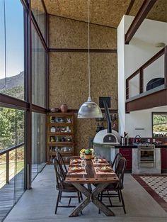 Interior casa em Steel frame