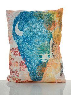 Supermaggie Buffalo Pillow   The Black Bunny Boutique