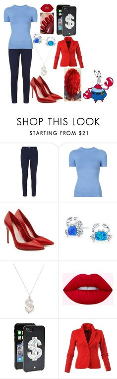 """""""Eugene Krabs"""" by kiara-fleming ❤ liked on Polyvore featuring Ted Baker, JoosTricot, Alexander McQueen, Bling Jewelry, Sydney Evan and Kate Spade"""