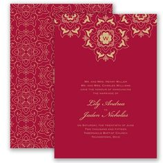Moroccan mystery wedding invitation in apple weddinginvitations zen wedding invitation scrollwork floral chinese korean lace at invitations by davids bridal stopboris Gallery