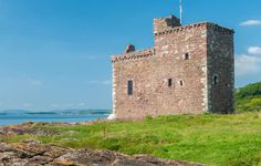 Portencross Castle stronghold of the Boyd family,  friends of King Robert the Bruce.