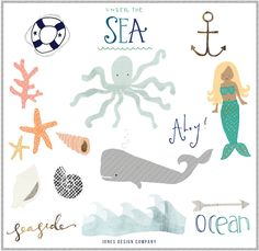 free Seaside clipart and how to use it / jones design company