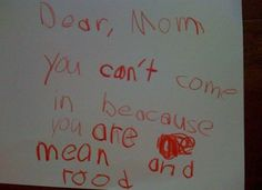 Ideas funny kids notes god for 2019 Funny Notes From Kids, Kids Notes, Funny Quotes For Kids, Funny Ideas, Funny Texts Crush, Dear Mom, Sick Kids, Kids Writing, Funny Love