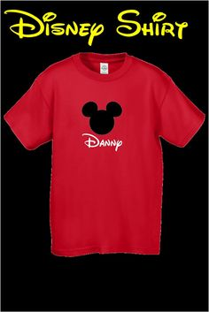 Personalized Red Mickey Shirt Or Infant onesie Kid by jgrimes1 for $15.99