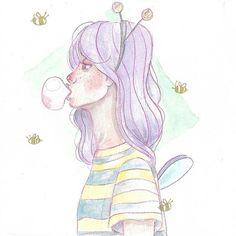 bzzzz 🐝🐝🐝 #bee#oc#character#characterdesign#spring#illustration#art#drawing#sketchbook#artbook#bee#girl#polishgirl#sketch#painting#watercolor#watercolorpainting#ilustracja#polishgirl#polishart#fly#pastel#inspiration#crazy#hair#sztuka#rysunek#akwarele#canson#nathalyacraft#pszczolka#loveit