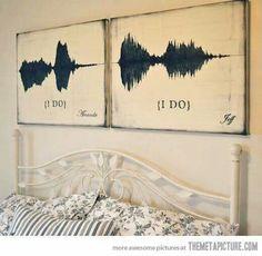Sounds waves of the moment you said 'I do'!