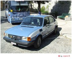 Second series Alfasud used by Polizia di Stato (State Police) The Polizia di Stato is one of the national police forces of Italy and are the main police force for providing police duties such as highway patrol (autostrade), railways (ferrovie), airports (aeroporti), customs as well as assisting the local police forces. It was a military force until 1981 when it became a civil force | pin research by scann R