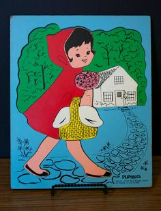 Playskool Red Riding Hood. I remember when school would have these wooden puzzles for free time