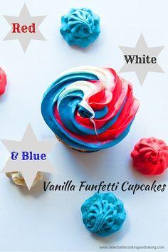fourth of july funfetti cupcakes