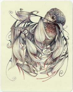 """The Stalker I"" 2014 by Marco Mazzoni (b1982, Milan)"