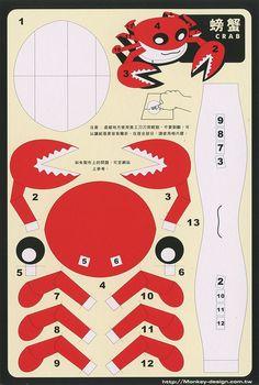 Crab - Cut Out Postcard | Flickr: Intercambio de fotos