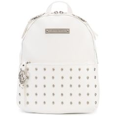 Thomas Wylde Venice backpack (11 800 SEK) ❤ liked on Polyvore featuring bags, backpacks, white, leather backpack bag, genuine leather backpack, white leather bag, real leather backpack and knapsack bag