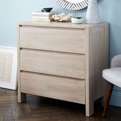 The solid-wood Boerum 3-Drawer Dresser merges laid-back country living with the cool calm of city sophistication. Every piece is subtly one of a kind, thanks to natural color variations in the mango wood.