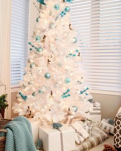 Showcase your blue hues this holiday season by creating an icy dream Christmas Tree like our friend @settingforfours #woodlandglam #10daysoftrees by wayfair