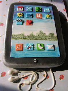 iPad Cake -- beautiful detail!