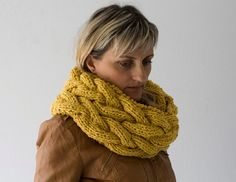 Neck Warmer in Mustard Yellow, Tube Scarf, Loop Scarf, Circle Scarf, You Make Beautiful Things, Whimsical Fashion, Knit Cowl, Summer Parties, Fashion Essentials, Neck Scarves