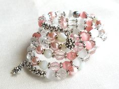 memory wire bracelets | pink memory wire bracelet memory wire bracelet pink bracelet five .../ Have never worked with memory wire before, but this looks like a great project.