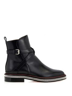 Christian Louboutin Chain leather chelsea boots