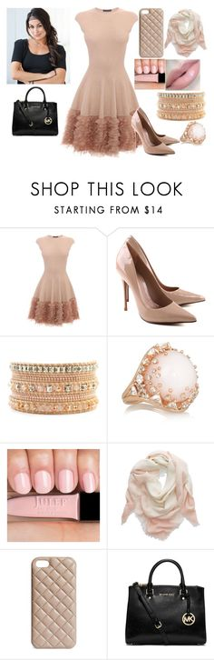 """""""Brie Bella"""" by kiara-fleming ❤ liked on Polyvore featuring Alexander McQueen, Schutz, Fernando Jorge, Korres, Aerie, The Case Factory and MICHAEL Michael Kors"""