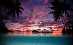 Beautiful Tropical Sunset Wallpaper Free Desktop Backgrounds And