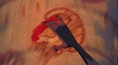 And Rafiki's model finger painting. | 21 Oddly Satisfying Disney Moments