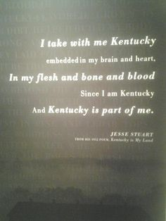 Kentucky is part of me forever.