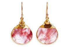 Cherry Quartz Sarotte Earrings