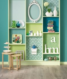 I may fill the spots a little differently, but this is such a cute way to add a splash of extra color to a room.