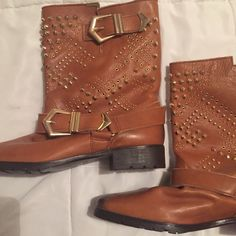 For Sale: Zara Boots With Gold Detail  for $20