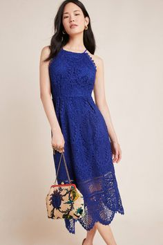 Ava Lace Midi Dress | Anthropologie