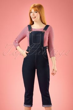 1ba1a90f71 50s Coco Denim Dungarees in Navy. Collectif Clothing Coco Denim Dungarees  20708 20161130 0016cw