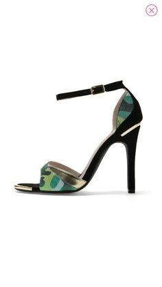 Sandália verde&dourada by ELLE