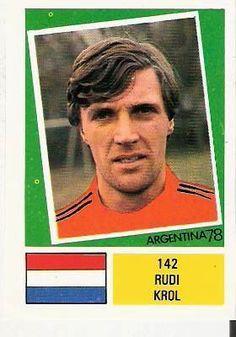 RUDI KROL - HOLLAND - FKS FOOTBALL STICKER -1978 WORLD CUP