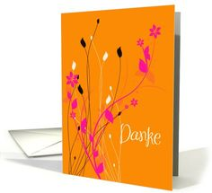 thank you German danke card. Personalize any greeting card for no additional cost! Cards are shipped the Next Business Day. I Am Happy, Thank You Cards, German, Greeting Cards, Graphic Design, Colour, Home Decor, Thanks, Im Happy