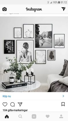 Lovin' this arrangement … mixed sizes are brought together with the use of the same frame and all B&W images. Lovin' this arrangement … mixed sizes are brought together with the use of the same frame and all B&W images. Living Room Interior, Home Living Room, Living Room Decor, Bedroom Decor, Picture Wall Living Room, Living Room Gallery Wall, Pictures On Wall Living Room, Bedroom Pictures, Bedroom Apartment