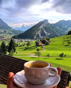 This is perfection. Switzerland and Coffee