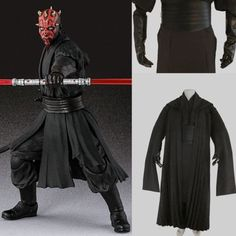 Star-Wars-Sith-Dark-Lord-Darth-Maul-Cosplay-Costume-Tunic-Outfit-Suit-Gloves