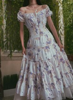 Aesthetic Fashion, Look Fashion, Aesthetic Clothes, Pretty Outfits, Pretty Dresses, Beautiful Dresses, Fairytale Dress, Fairy Dress, Fairytale Cottage