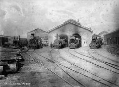 1876 Ipswich Railway Sheds Ipswich Qld, Melbourne Street, Flood Damage, Queenslander, Steam Engine, Sunshine State, Locomotive, Brisbane, History