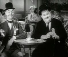 Laurel & Hardy in Flying Deuces 1 edited - Laurel and Hardy - Laurel and Hardy were a comedy double act during the early Classical Hollywood era of American cinema. The team was composed of thin Englishman, Stan Laurel (1890–1965) and heavyset American, Oliver Hardy (1892–1957). They became well known during the late 1920s through the mid-1940s for their slapstick comedy with Laurel playing the clumsy and childlike friend of the pompous Hardy