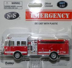 BOLEY 2200 71 S&S FLAT NOSE TOP MOUNT PUMPER FIRE TRUCK 1:87 HO RED/WHITE E23
