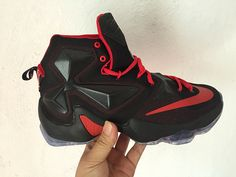 c3db4bb0a163 Latest and Cheapest Lebron 13 XIII Black Hyper Crimson