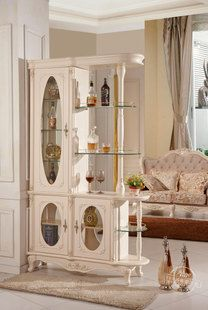 Continental American solid wood wine Cabinet modern minimalist style entrance hall between the living room Cabinet partition Cabinet corner ...